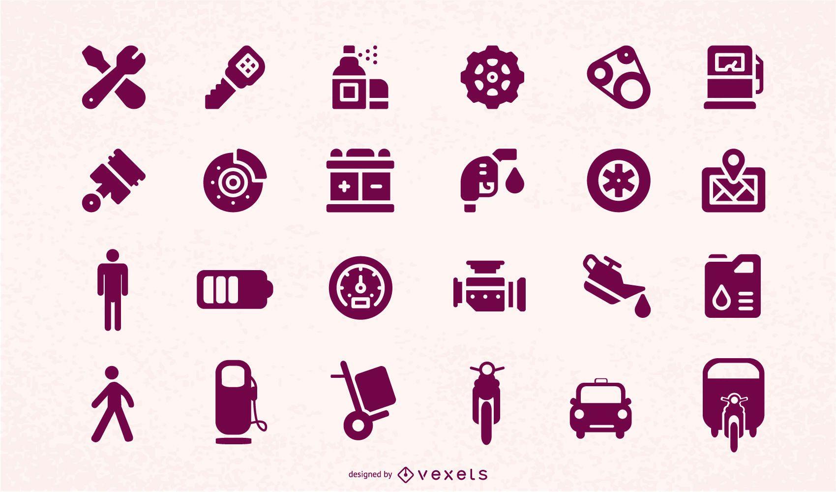 automotive accessories icon vector
