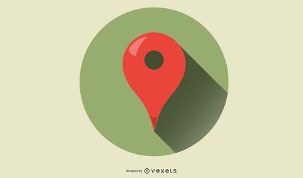 Vetor de ponteiro do Google Maps