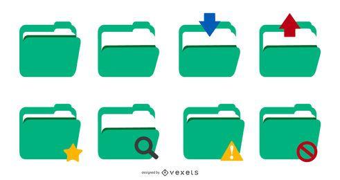 vector de icono de carpeta verde