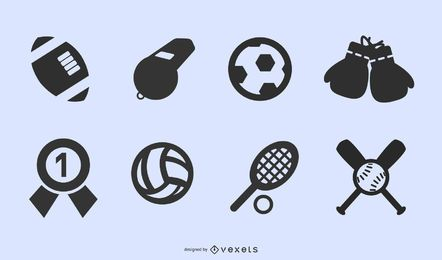 sportsrelated icons 2 vector