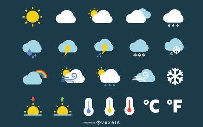 Wettersymbole Vektorgrafik