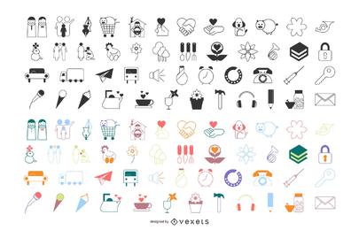 Icono de vector de estilo de línea