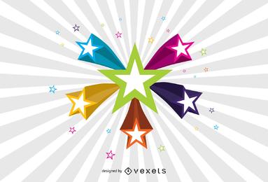 Vector de estrellas 3d