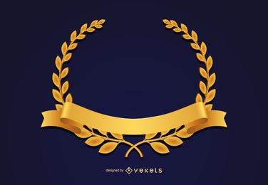 Medalla de oro corona