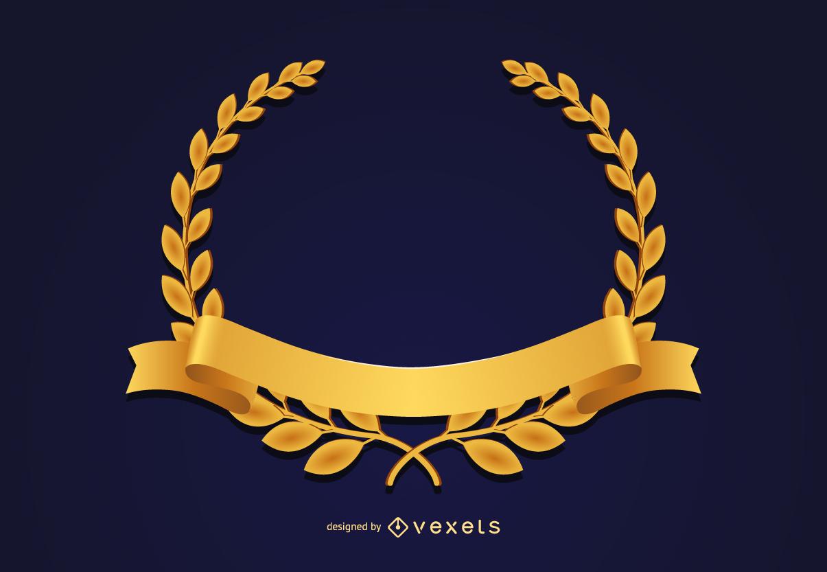 Corona medalla de oro