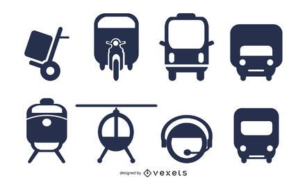 transport icon 2 vector