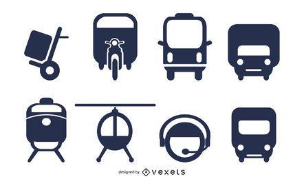 vetor de ícone 2 de transporte