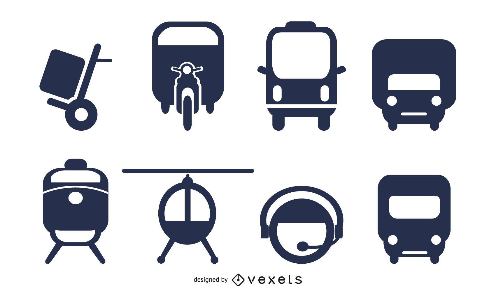 transport icon 2 vector