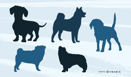 Paquete de silueta de perro pequeño