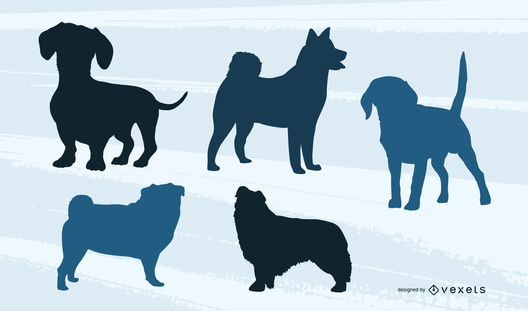 Small Dog Silhouette Pack