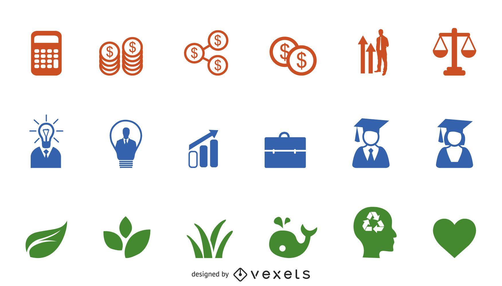 Vector icono decorativo simple