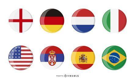 vetor de ícone de bandeira