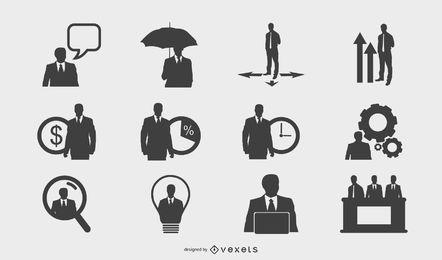 Ícone de pessoas de negócios 3