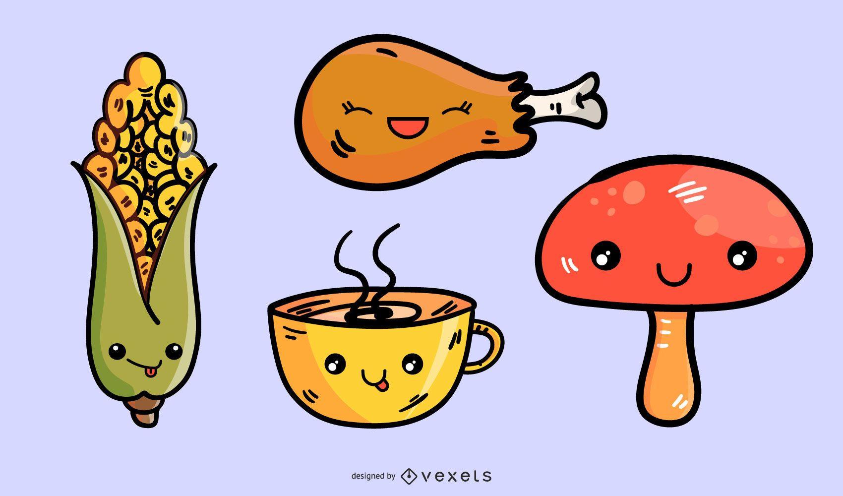 vector de icono de comida de dibujos animados