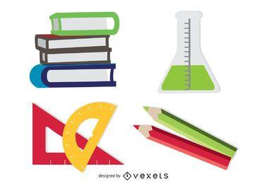 Conjunto de 4 ícones de aprendizagem