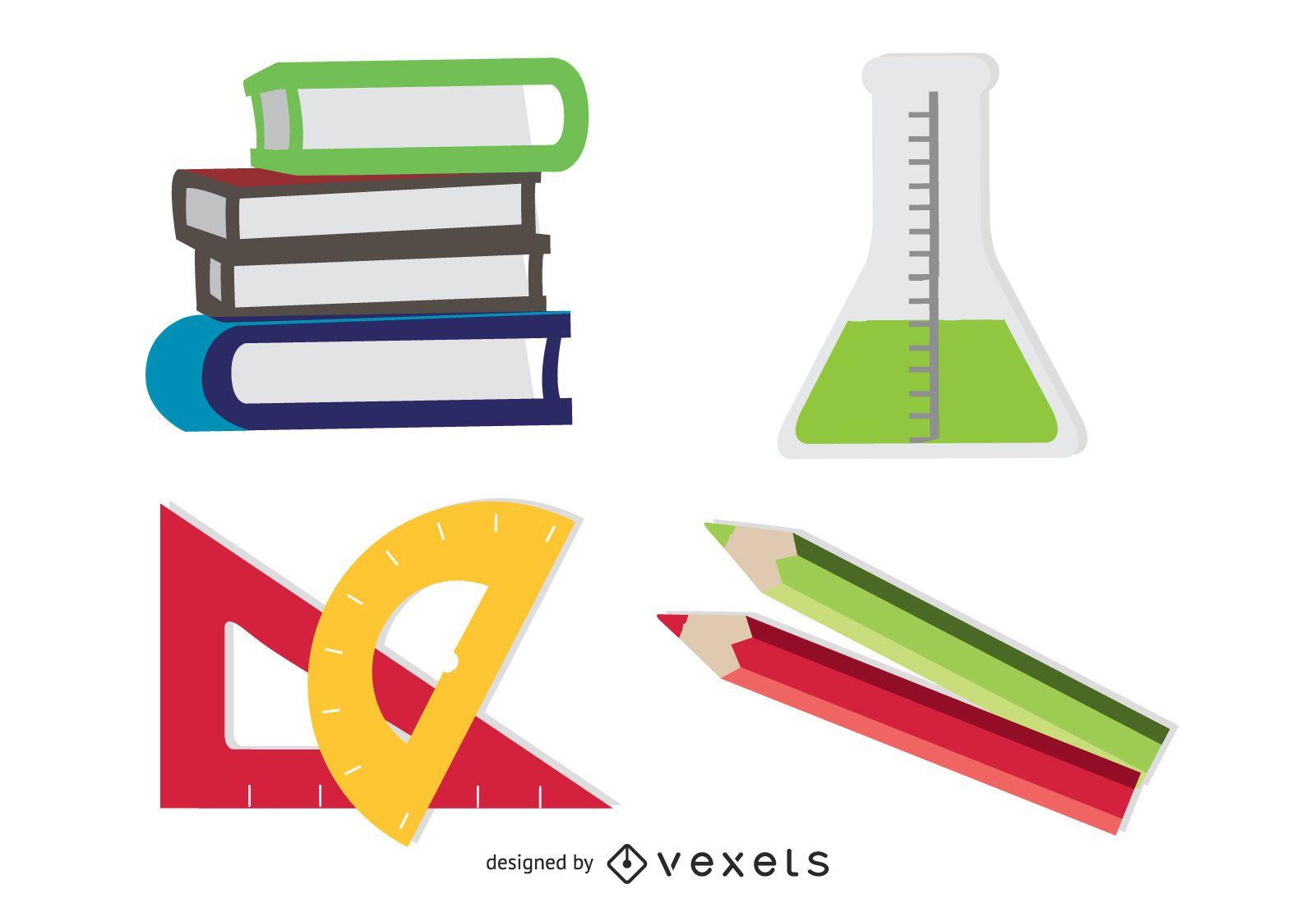 Conjunto de 4 iconos de aprendizaje