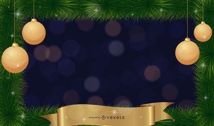 gold ribbon and christmas
