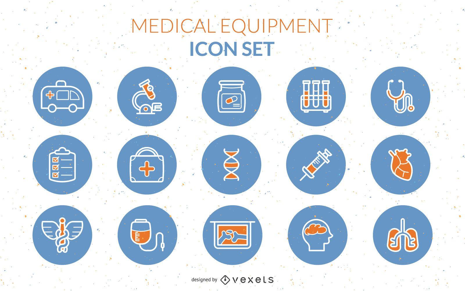 Vector de icono de equipo médico
