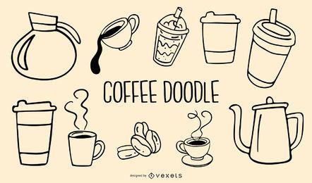icono de café y fondo
