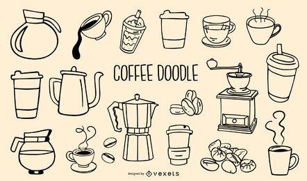 ícone de café e fundo