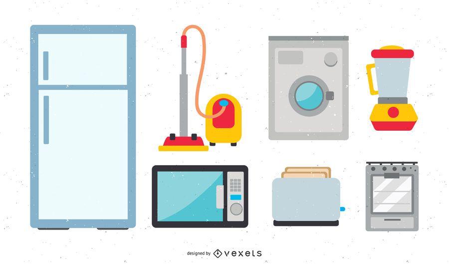 Household appliances icon vector