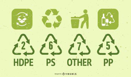 Reciclar vectores de iconos