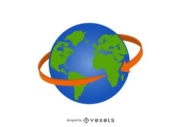 Globusvektorikone