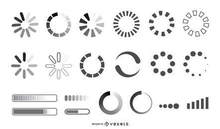 Cargando colección de diseño de iconos