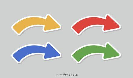 Color arrow icon vector