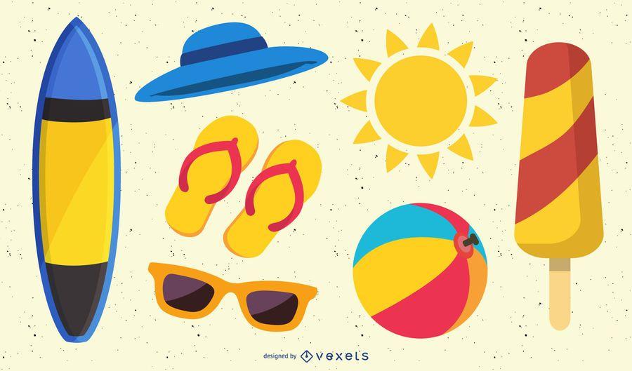 vector icono de verano