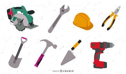 Herramientas de construcción y construcción