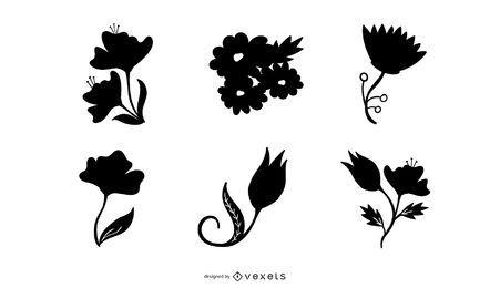 6 vetores florais