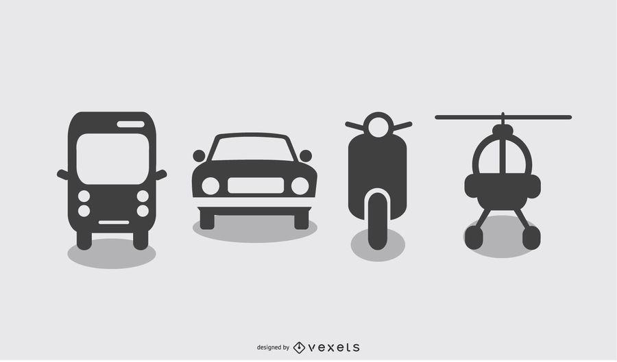 Vector Transportation Icon Set