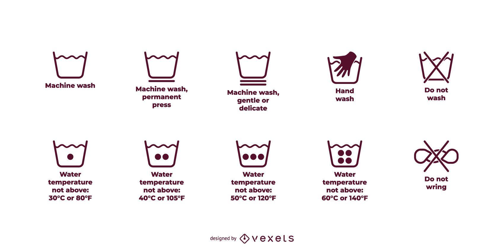 Vector de icono de logotipo de lavado