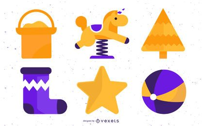 Cute Playground Elements Set