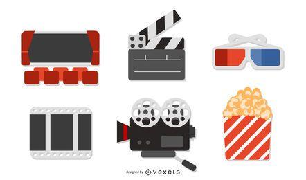5 vetor de ícone de filme