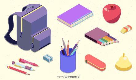 Vector de icono de tema escolar