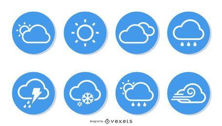 Paquete de colección de iconos de clima simple