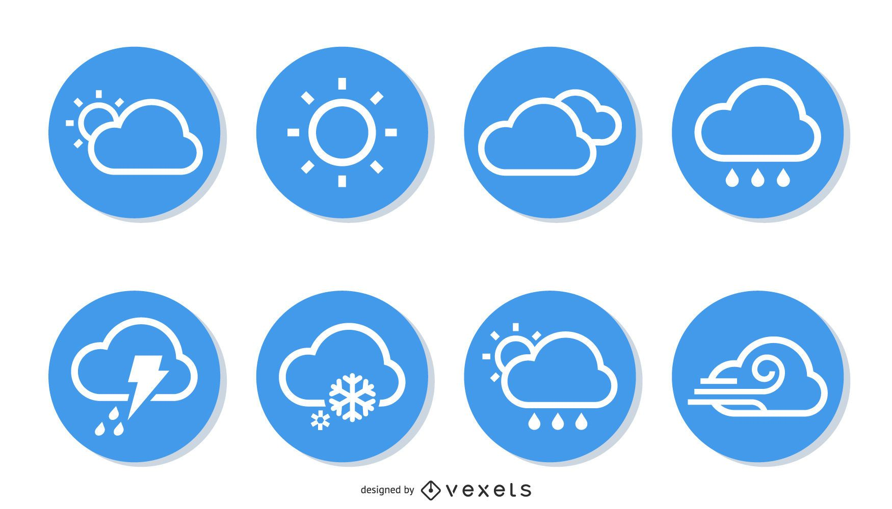 Simple weather icon collection pack