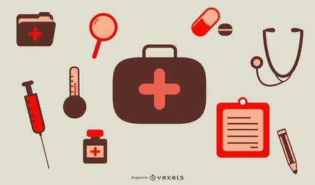Suministros médicos icono vector