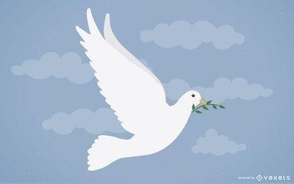 La ilustración del pájaro de la libertad