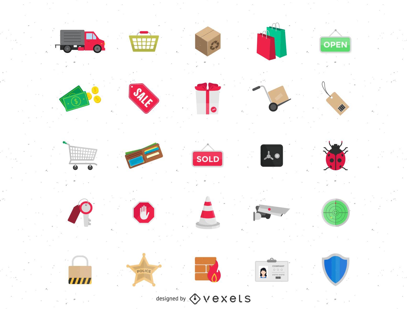 supermercado con vector icono
