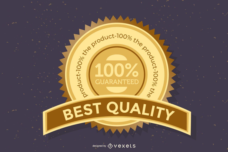 Beautiful badge icon vector