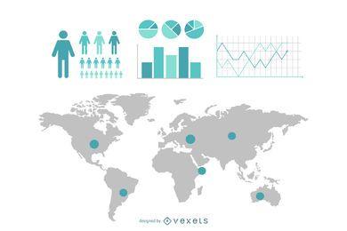 Infografik-Elemente für Informationen und Statistiken