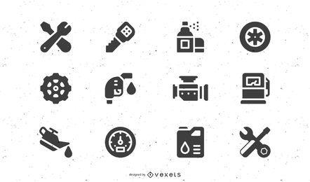 Vector icono de mantenimiento de vehículos