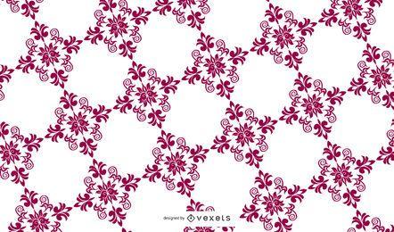 Patrón floral de verano swirly