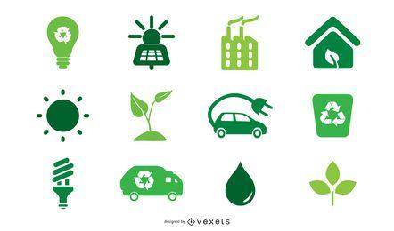 Ícones verdes