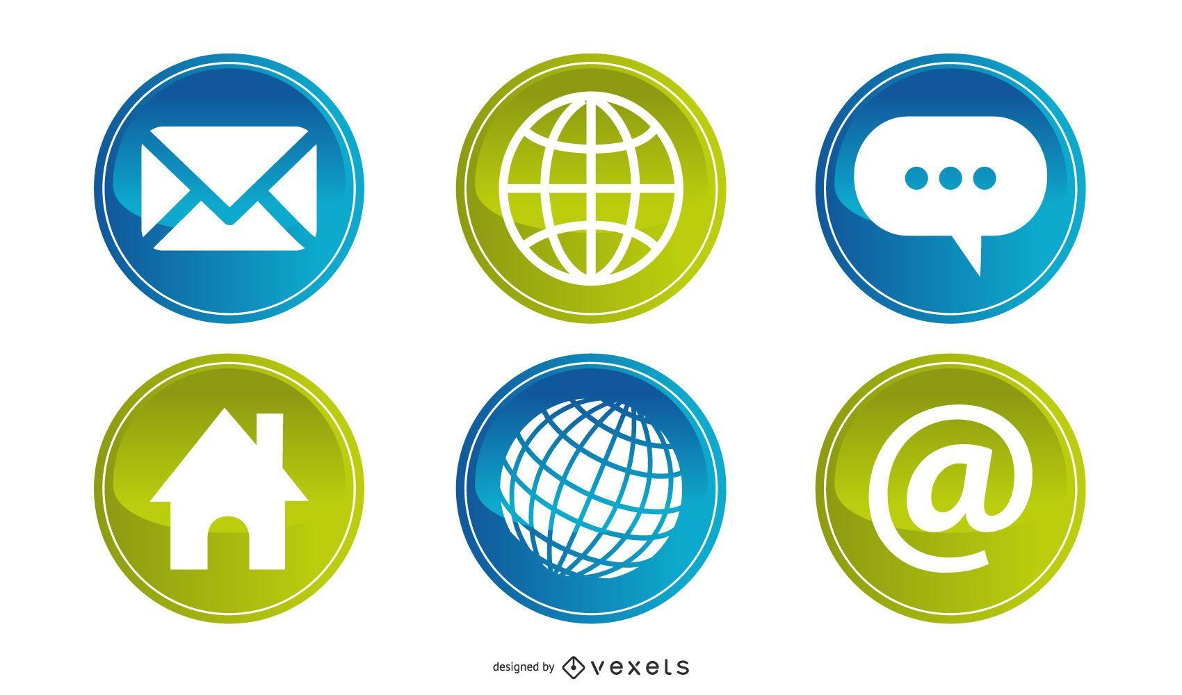 botón de icono web 4