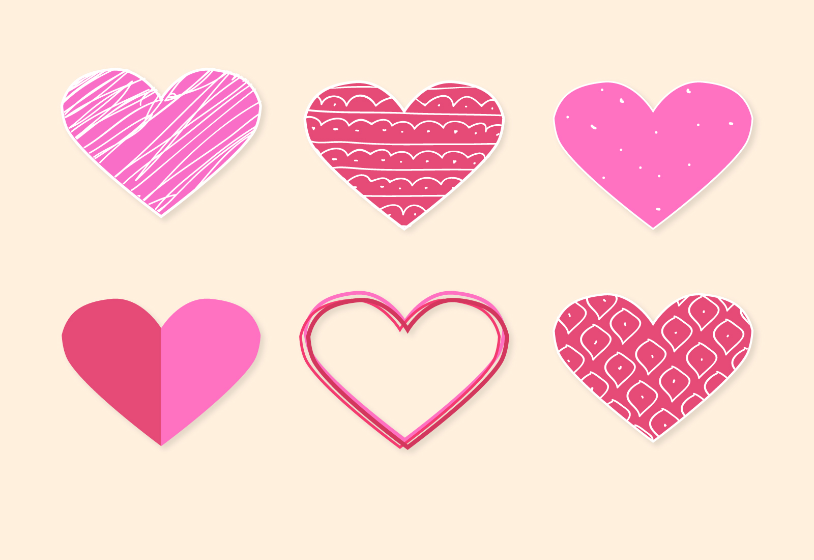 Vector icono rosa en forma de corazón