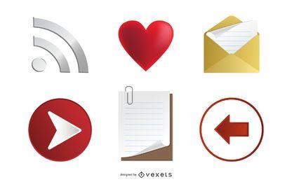 Conjunto de iconos 3d